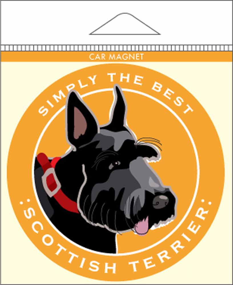 "Scottish Terrier Car Magnet 4x4"""