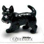 Scottish Terrier Hand Painted Porcelain Miniature Figurine 1
