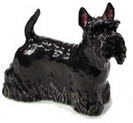 Scottish Terrier Hand Painted Porcelain Figurine