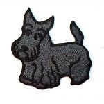 Scottish Terrier Iron on Embroidered Patch