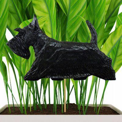 scottish-terrier-planter-stake-black