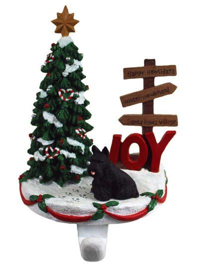 Scottish Terrier Stocking Holder Hanger
