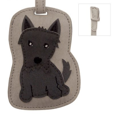Scottish Terrier Dog Luggage Tag Briefcase Gym Backpack Travel ID