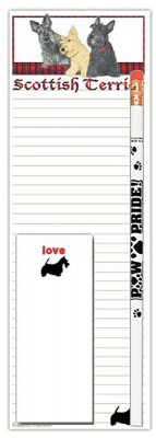 Scottish Terrier Dog Notepads To Do List Pad Pencil Gift Set