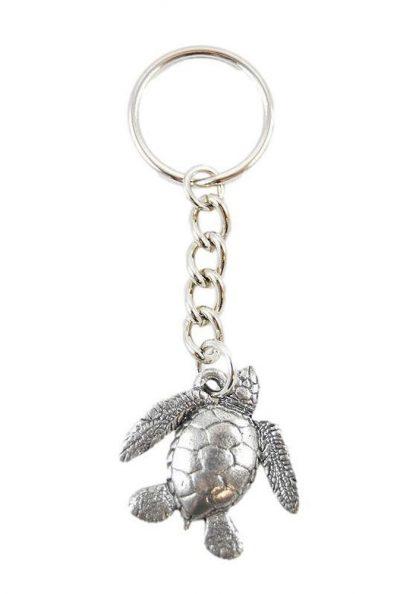 Sea Turtle Keychain Pewter