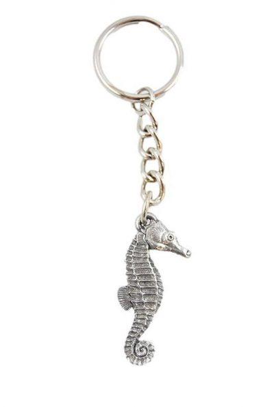 Seahorse Keychain Pewter
