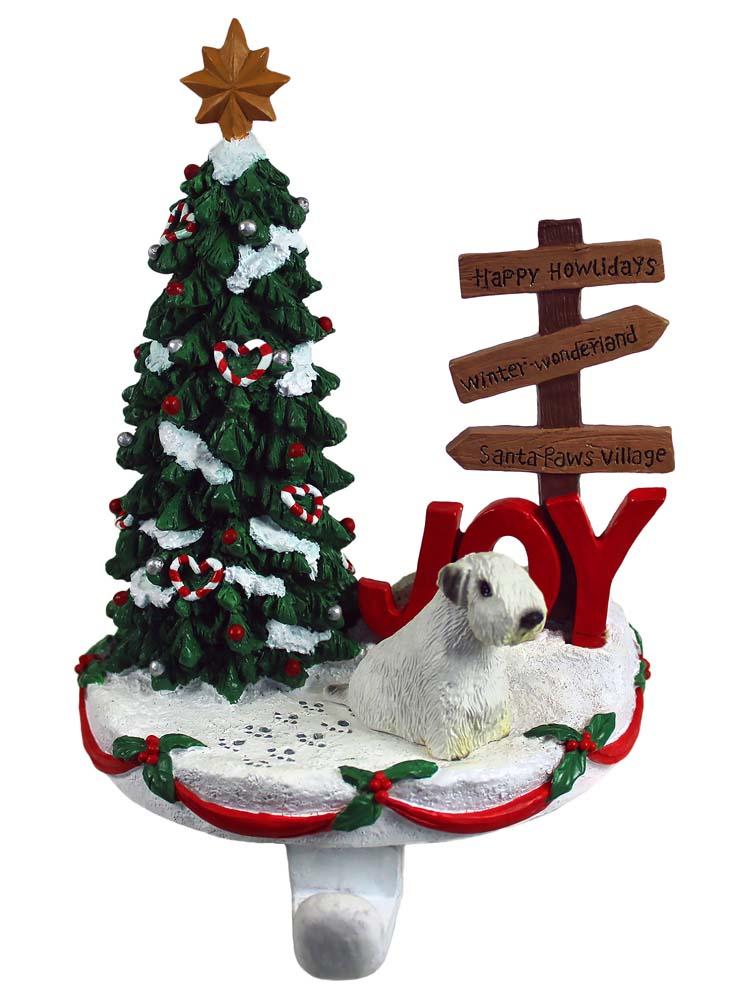 Sealyham Terrier Stocking Holder Hanger