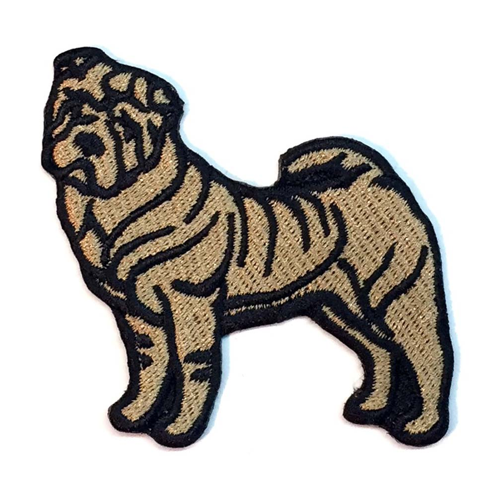 Shar Pei Iron on Embroidered Patch