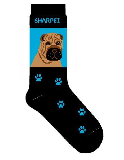 shar-pei-socks-blue