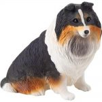 Sheltie Figurine Hand Painted Tri - Sandicast