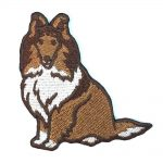 Sheltie Iron on Embroidered Patch