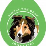 Sheltie Sticker 4×4″ 1