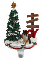 Sheltie Stocking Holder Hanger Tri