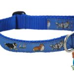 Sheltie Dog Breed Adjustable Nylon Collar Medium 10-16″ Blue 1