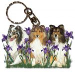 Sheltie Wooden Dog Breed Keychain Key Ring