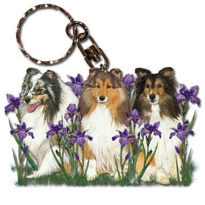 Sheltie Wooden Dog Breed Keychain Key Ring 1