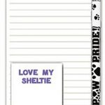 Sheltie Dog Notepads To Do List Pad Pencil Gift Set 1