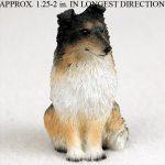 Sheltie Mini Resin Hand Painted Dog Figurine Tri Color 1
