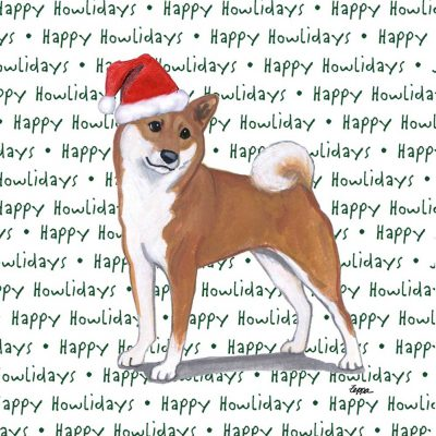 Shiba Inu Dog Coasters Christmas Themed