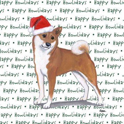 Shiba Inu Dog Coasters Christmas Themed