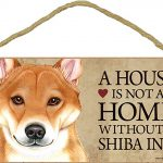 Shiba Inu Wood Dog Sign Wall Plaque Photo Display 5 x 10 – House Is Not A Home + Bonus Coaster 1