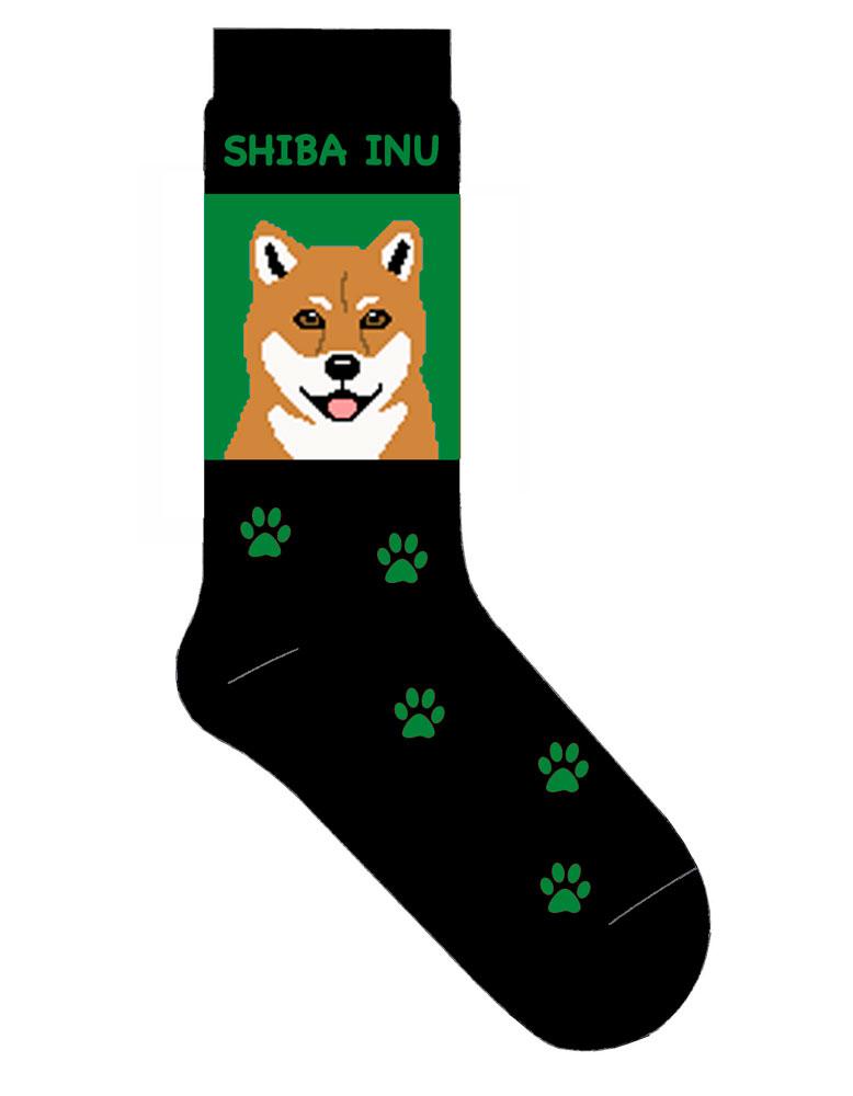 shiba-inu-socks-green