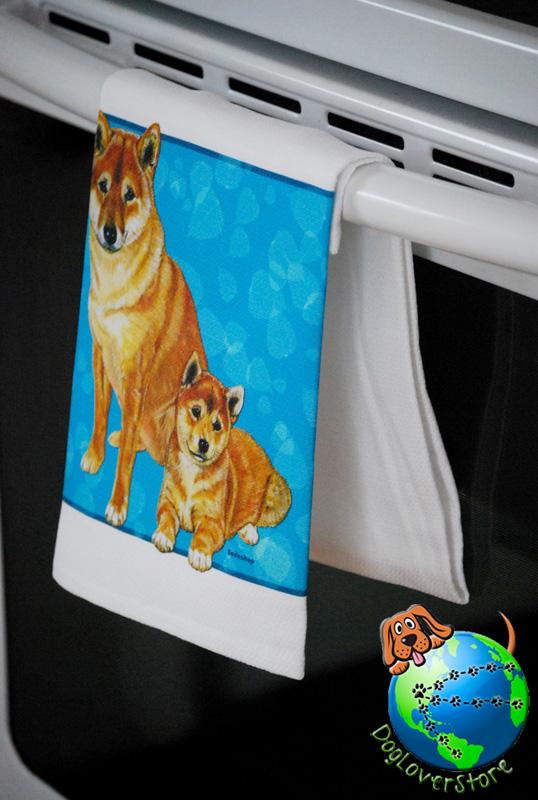 Shiba Inu Kitchen Hand Towel