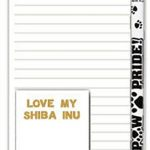 Shiba Inu Dog Notepads To Do List Pad Pencil Gift Set 1