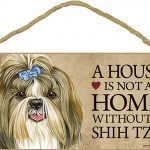 Shih Tzu Indoor Dog Breed Sign Plaque – A House Is Not A Home + Bonus Coaster 1