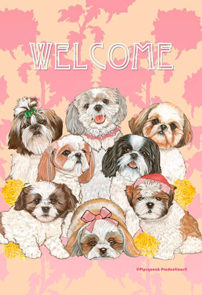 Shih Tzu Garden Flag 12.5 X 18 In
