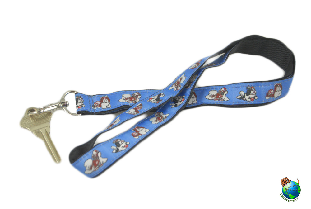 Shih Tzu Lanyard Key Holder Badge Holder