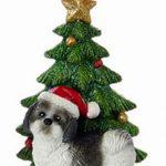 Shih Tzu Christmas Tree Ornament Black 1