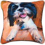 Shih Tzu Artistic Throw Pillow 18X18″ 1