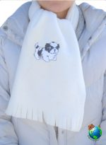 Shih Tzu Scarf Cream Fleece Puppy Cut