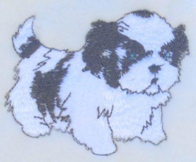 Shih Tzu Scarf Cream Fleece Puppy Cut