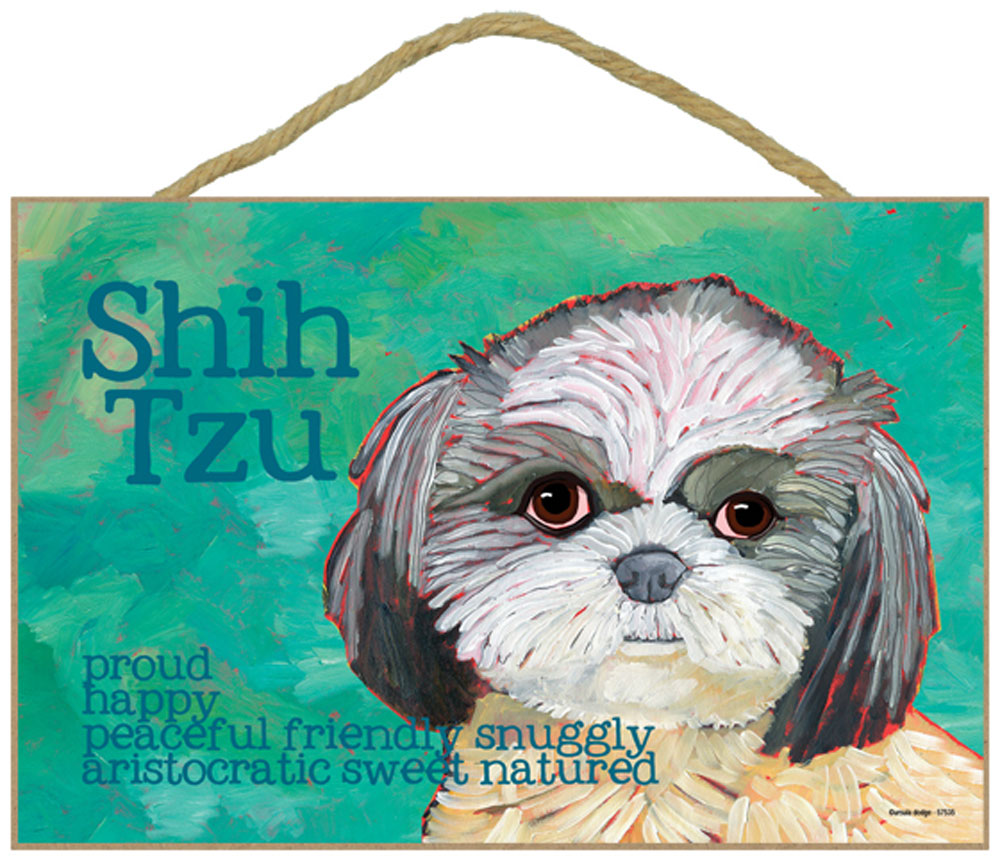 Shih Tzu Characteristics Dog Sign