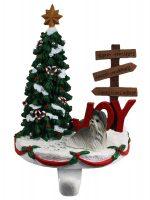 Shih Tzu Stocking Holder Hanger Gray