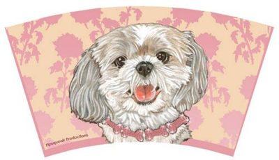 Shih Tzu Tumbler With Straw Design Puppy Cut
