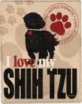 Shih Tzu Polyester Dog Blanket Throw