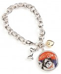 Shih Tzu Charm Bracelet w/ Heart & Bone Puppy Cut