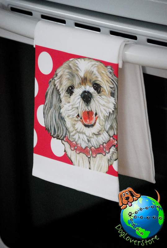 Shih Tzu Kitchen Hand Towel Puppy Cut