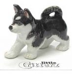 Husky Hand Painted Porcelain Miniature Figurine