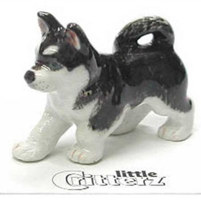 Husky Hand Painted Porcelain Miniature Figurine 1
