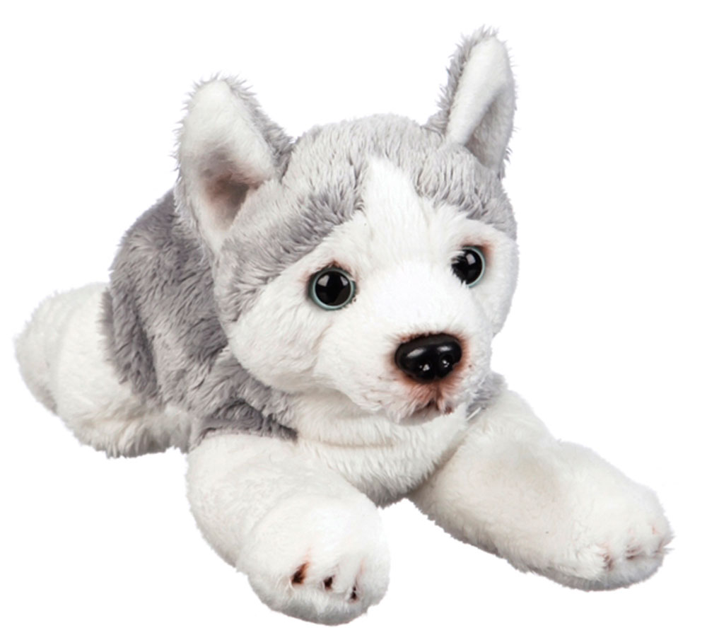 Siberian Husky Bean Bag Stuffed Animal Gray & White