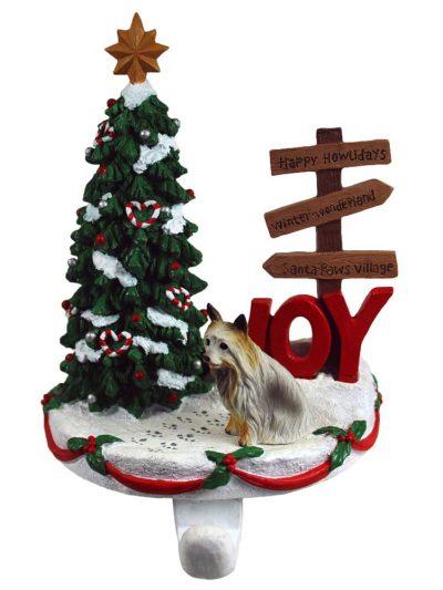 Silky Terrier Stocking Holder Hanger