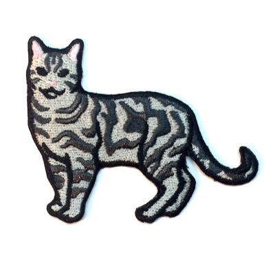 Silver Tabby Cat Patch