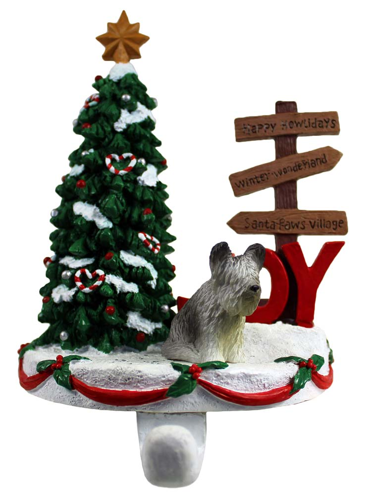 Skye Terrier Stocking Holder Hanger