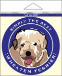 Soft Coated Wheaten Terrier Car Magnet 4x4""