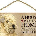 Soft Coated Wheaten Terrier Indoor Dog Breed Sign Plaque – A House Is Not A Home + Bonus Coaster 1