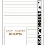Soft Coated Wheaten Dog Notepads To Do List Pad Pencil Gift Set 1